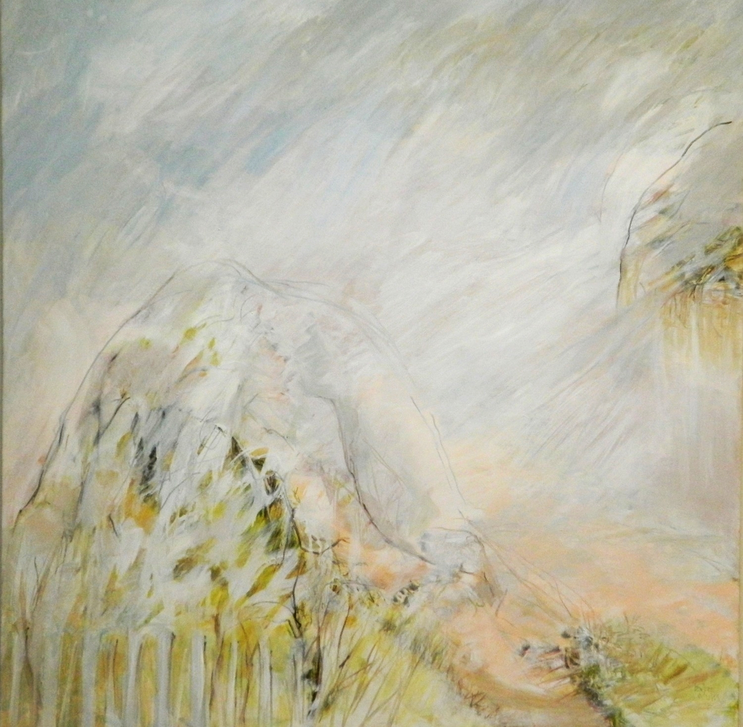 """""""Mountain...Ascending/Descending $1200Selected for printing on the invitations for Redlands Creative Alliance """"Linkages"""" Exhibition and displayed at Redland Regional Art Gallery in 2015..... currently on display at Hilier & Skuse Gallery at Bundall Rd, Surfers Paradise."""