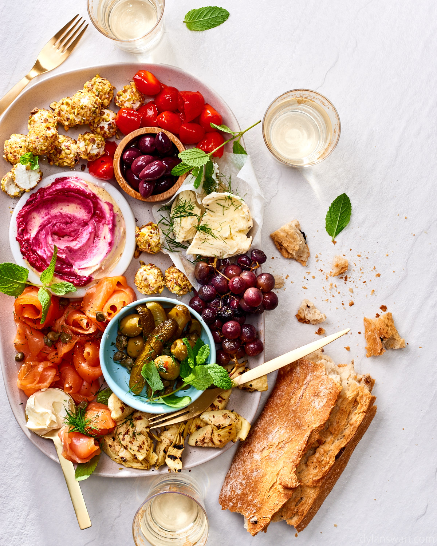 Festive antipasto sharing platter