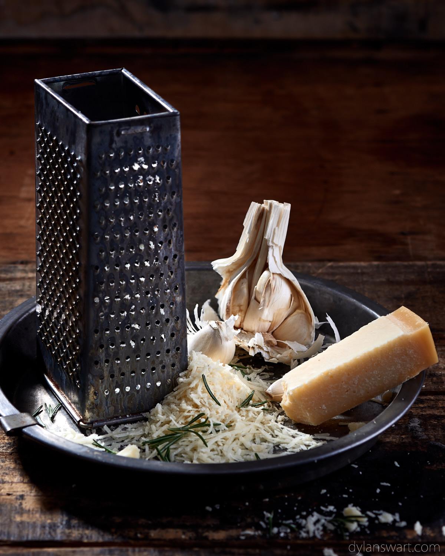Parmesan, rosemary and garlic