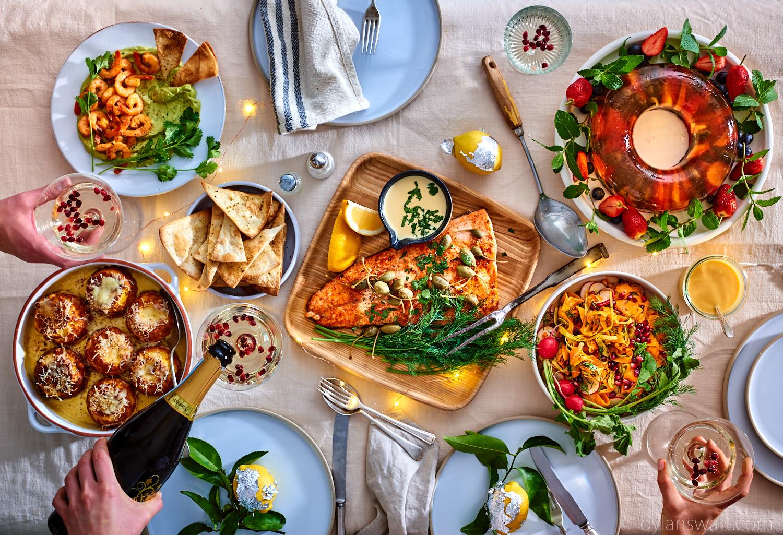 Christmas alfresco menu