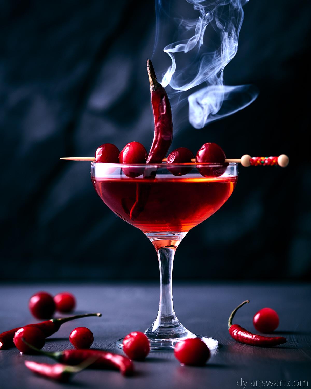 Smoky Chili & Cranberry Martini