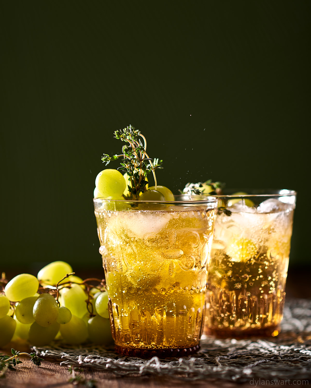 Sparkling rum, grape and thyme cocktail.jpg
