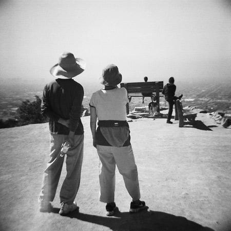 runyon canyon bench photography - hollywood, california