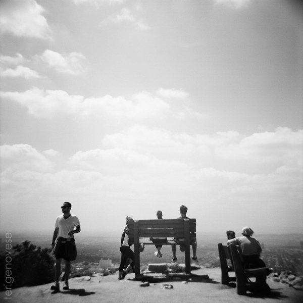 runyon canyon bench, hollywood fine art photography