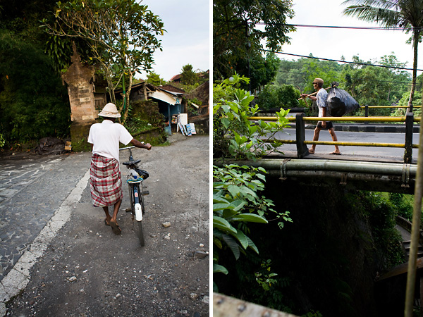 Bali Documentary Photograph, Balinese men walking in Ubud