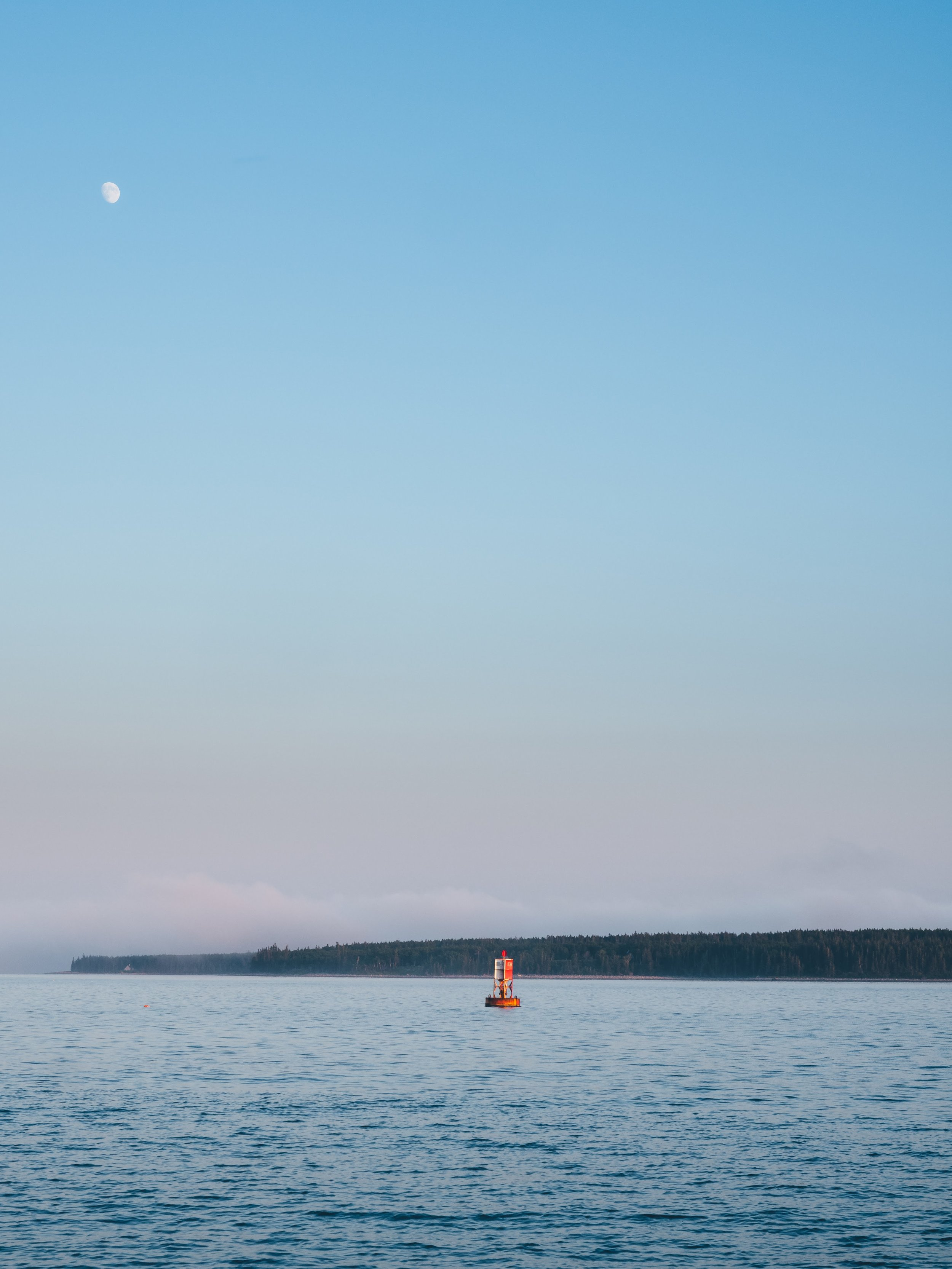 Moonrise over Bass Harbor
