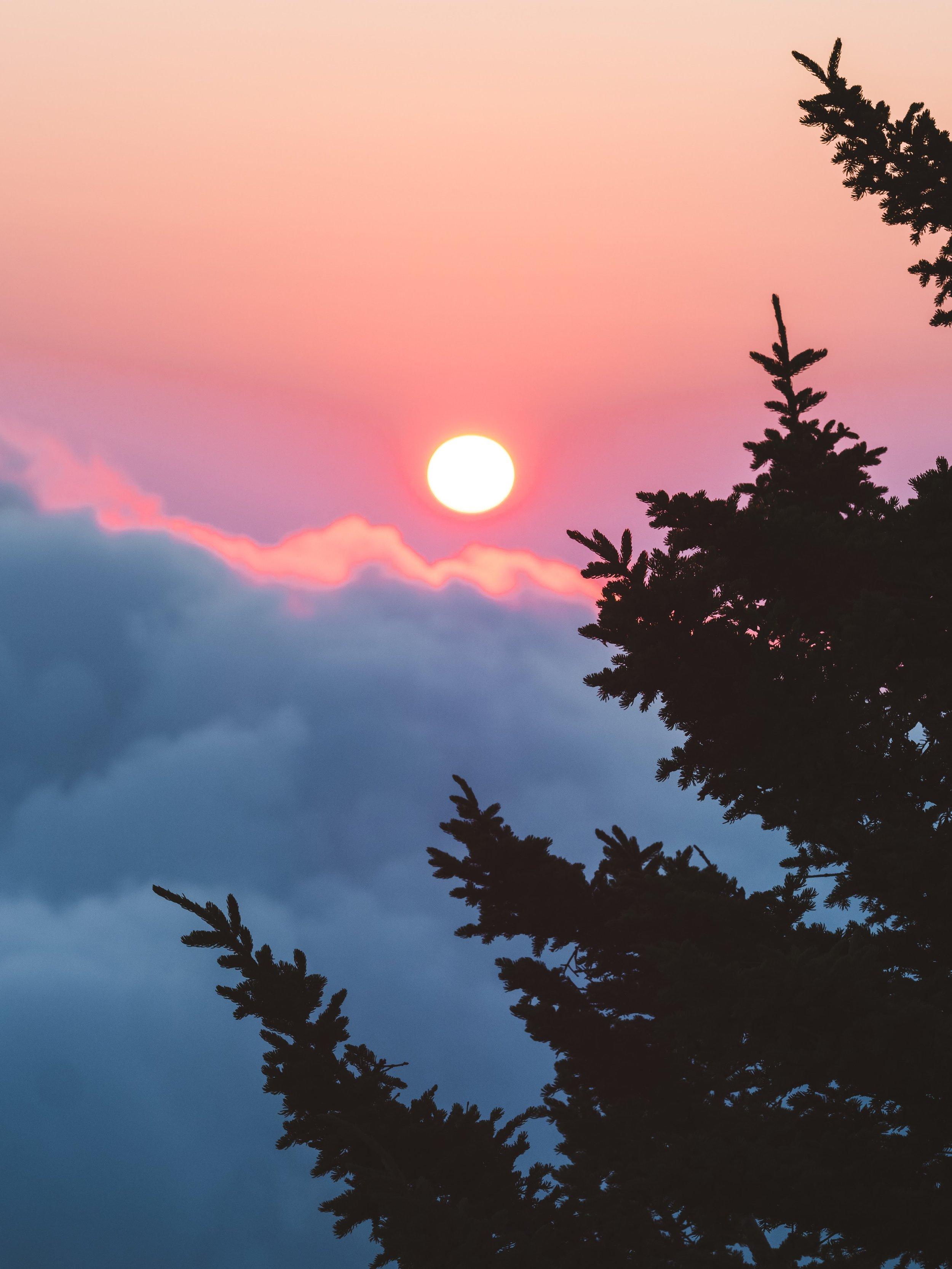A gorgeous sunrise.