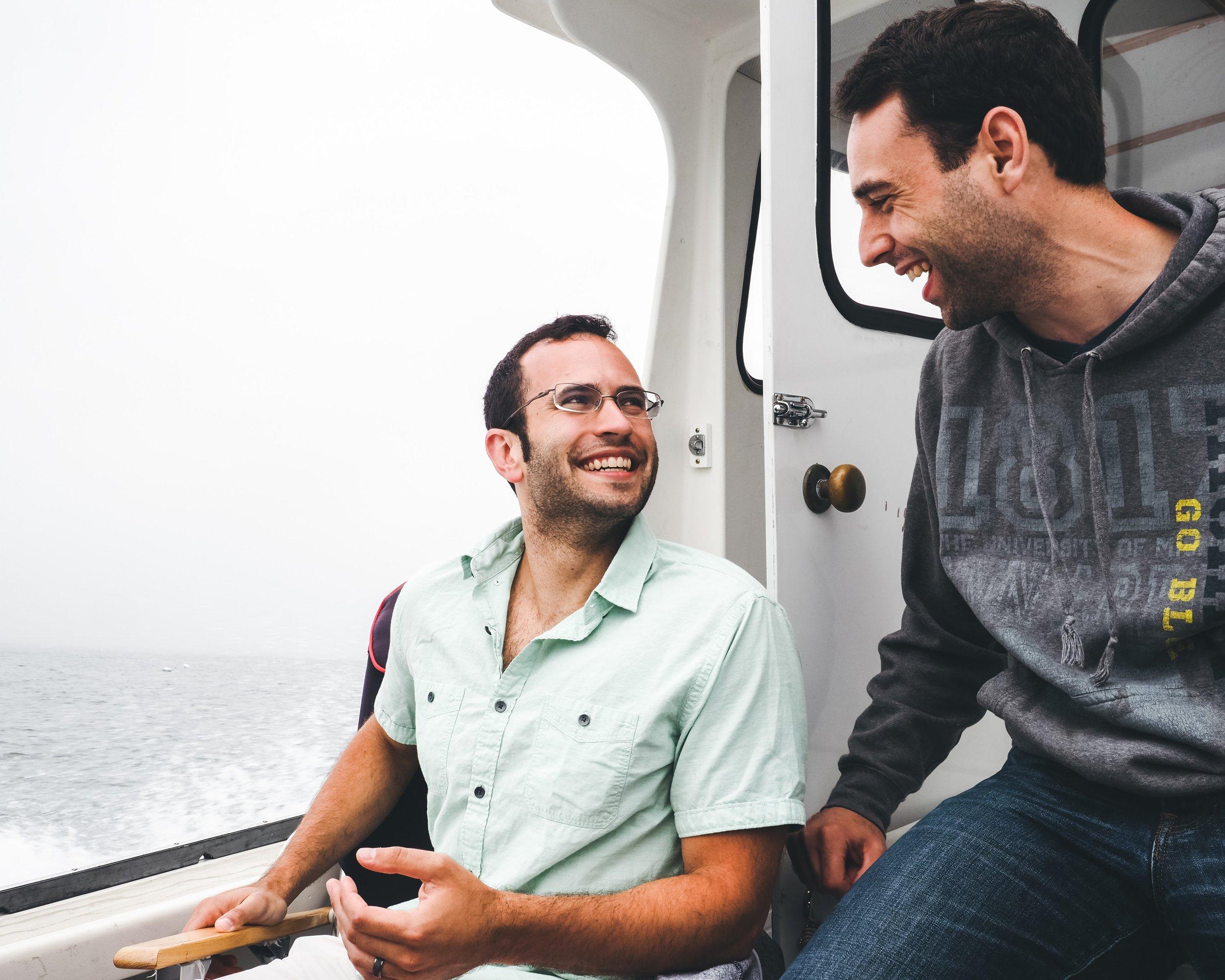John and Brandon sharing a laugh.