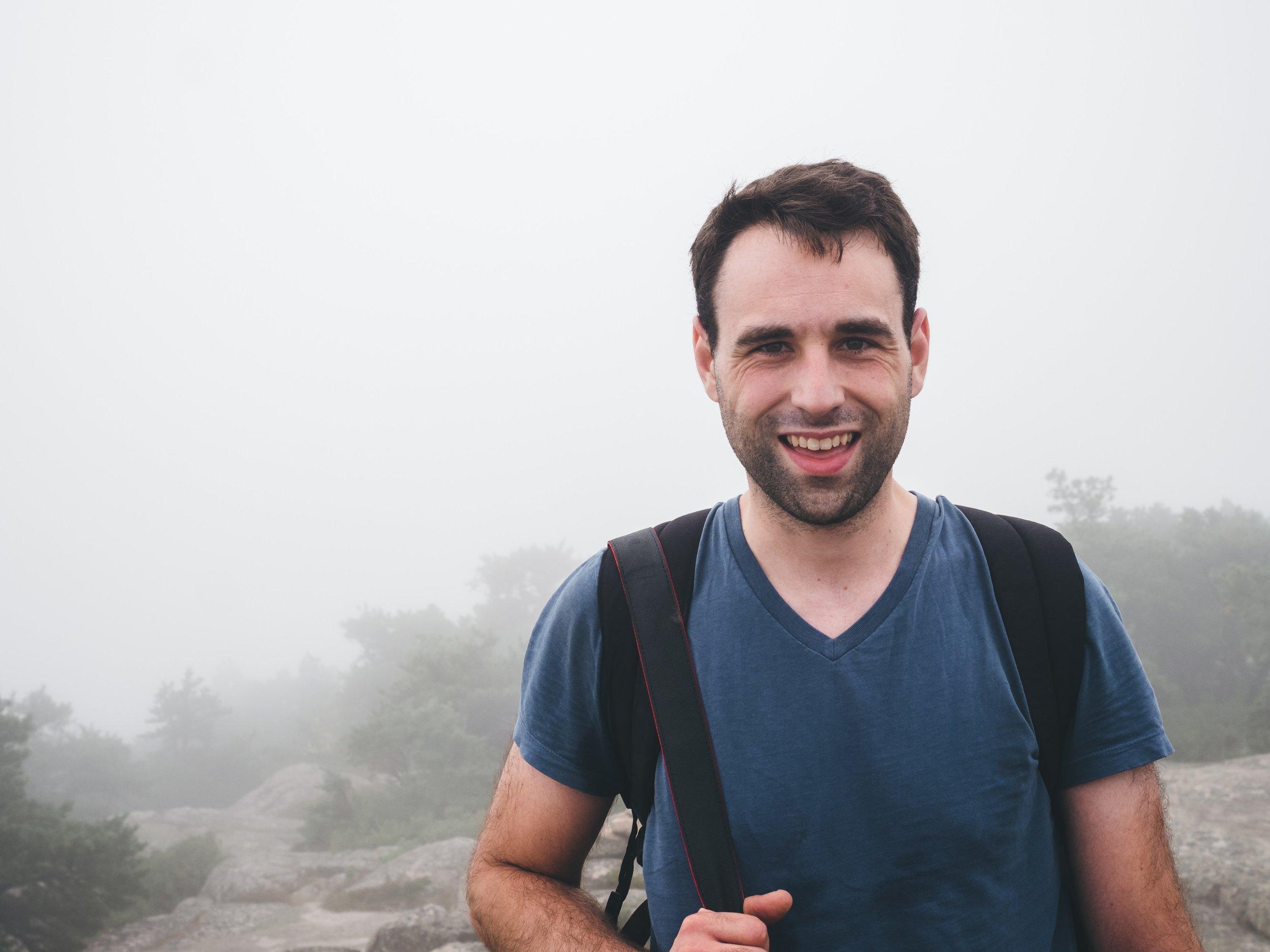 Brandon was euphoric upon reaching the top of Precipice