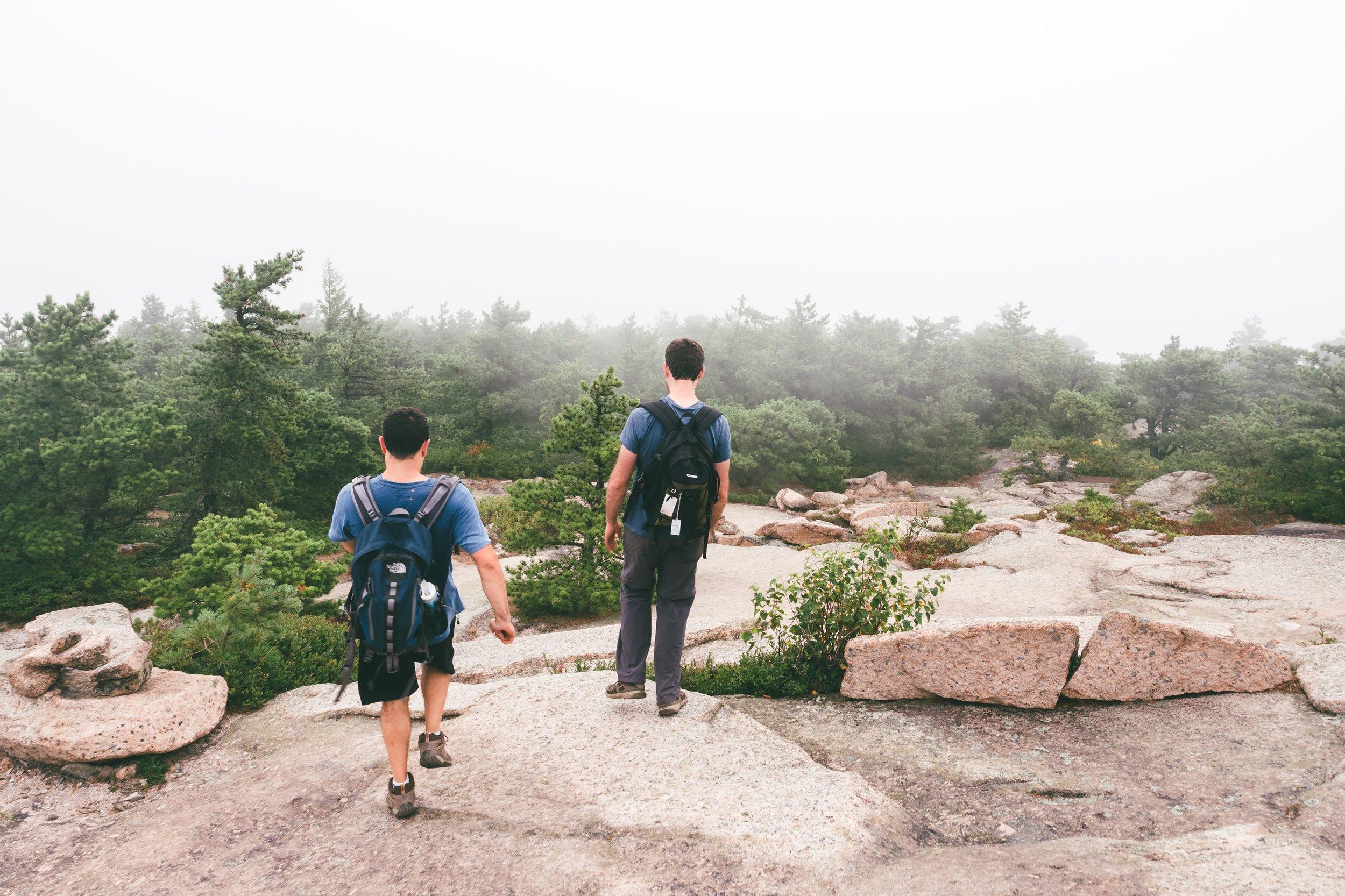 Descending Champlain Mountain