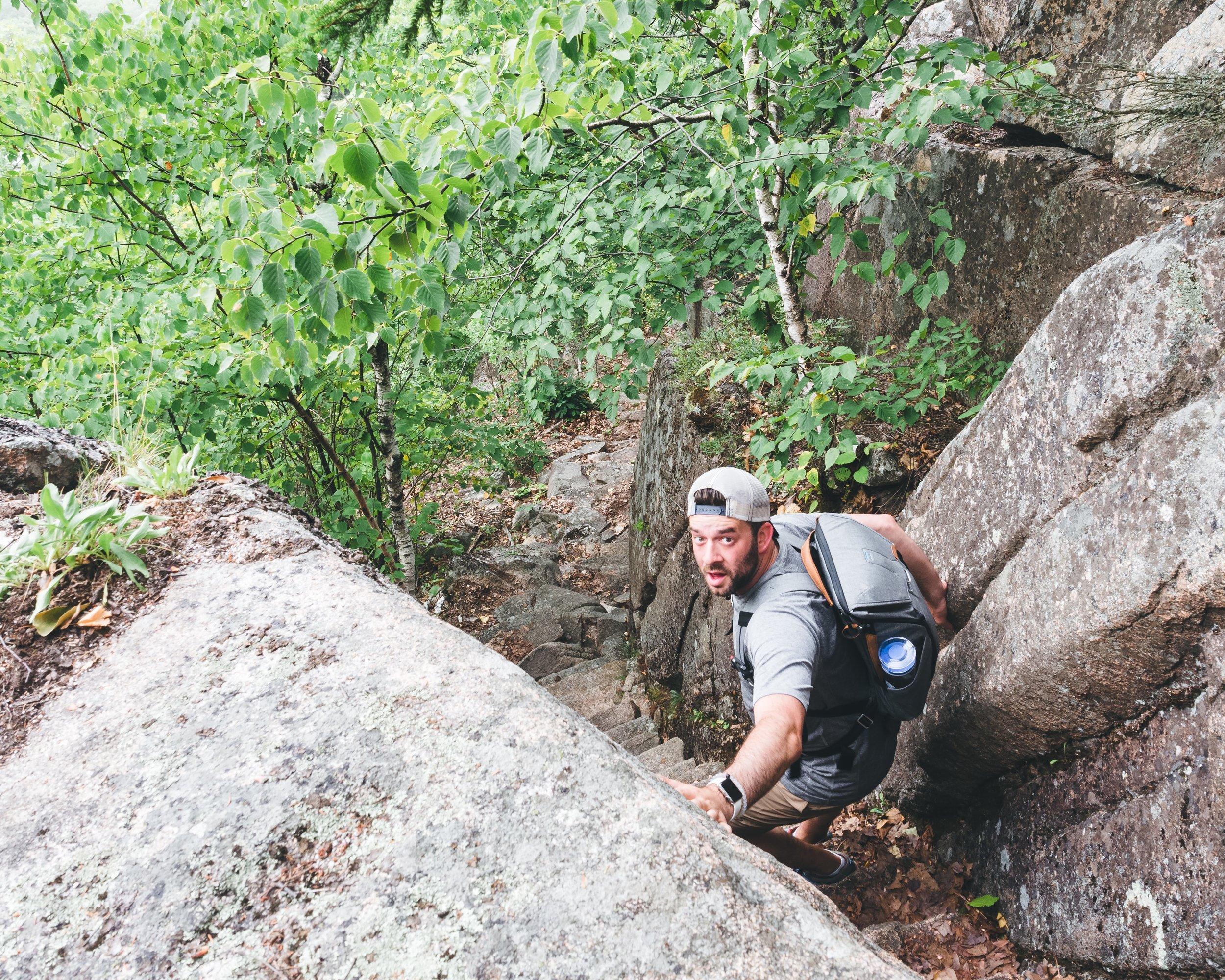 Me descending Precipice Loop.
