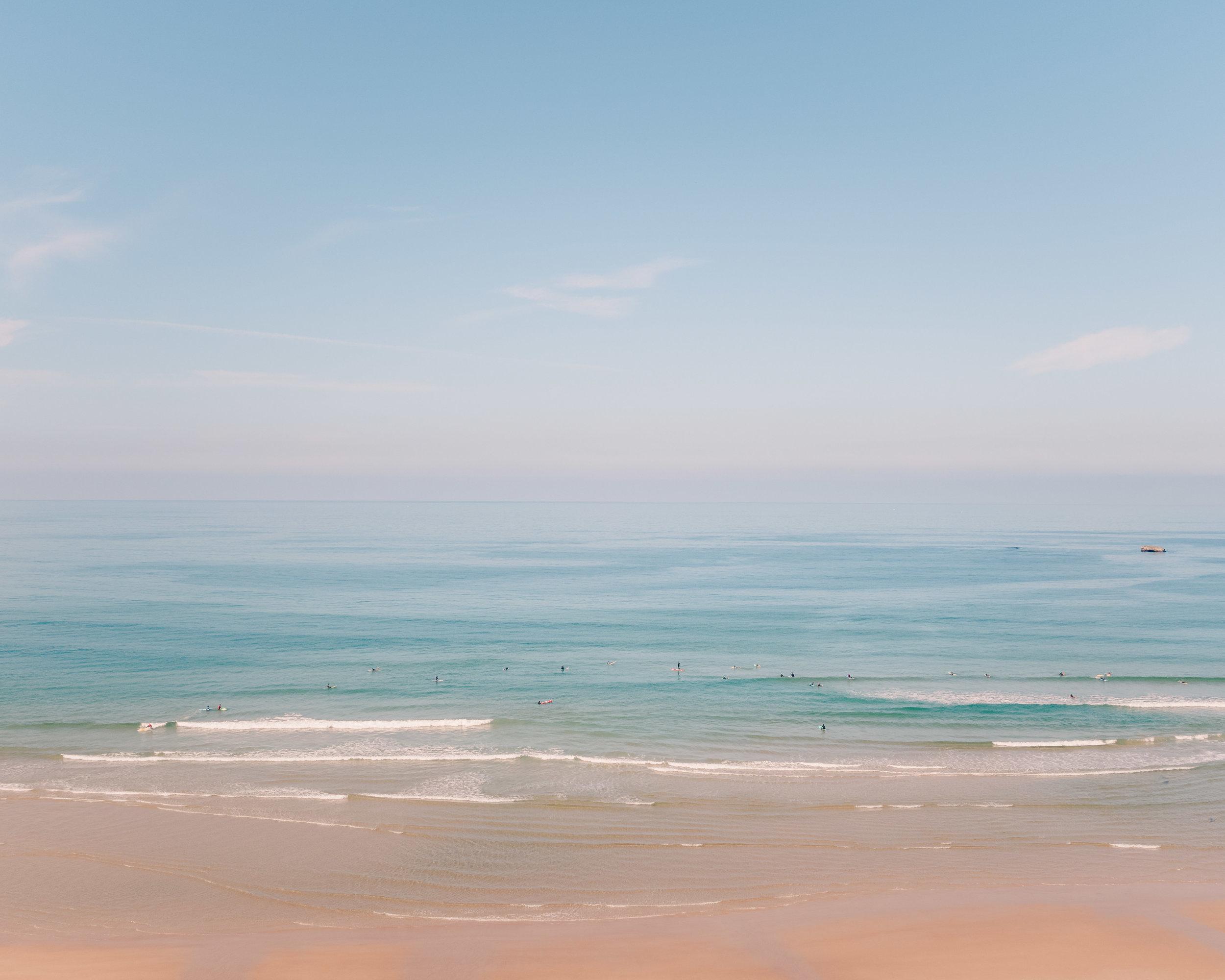 The 'surfing' beach in Biarritz.