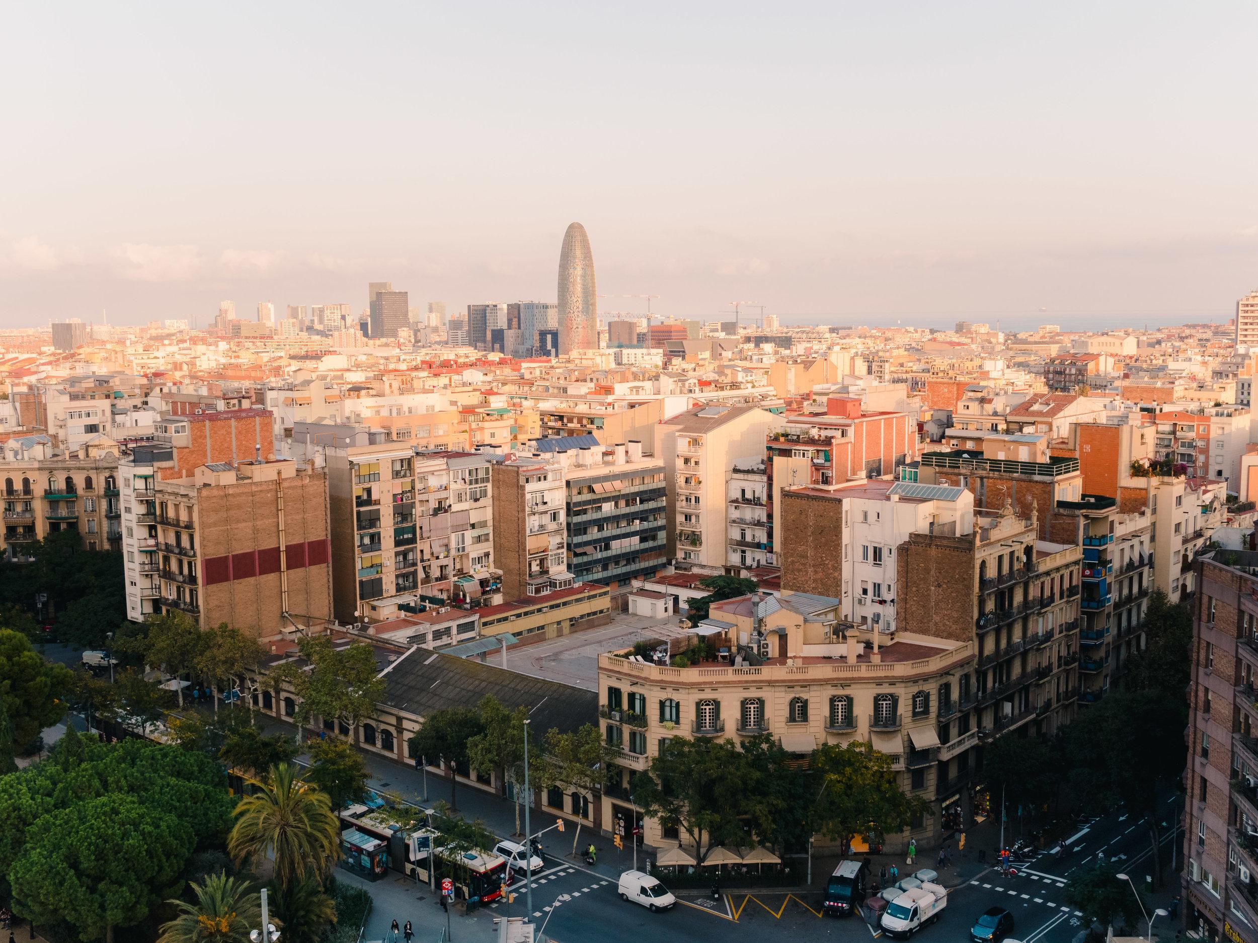 Barcelona from Sagrada Família's Nativity Tower.