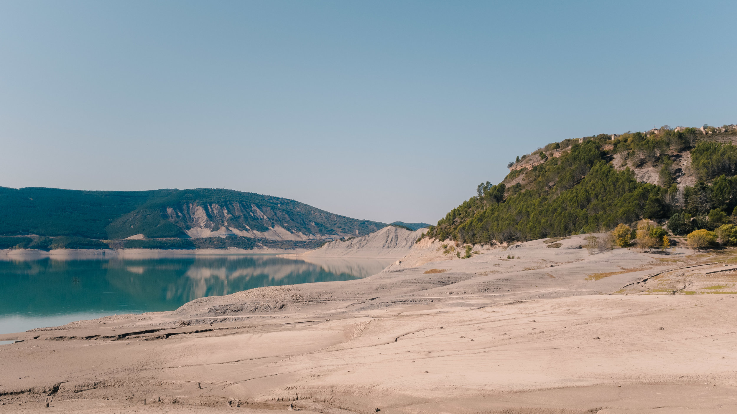 Yesa Reservoir in Aragon.