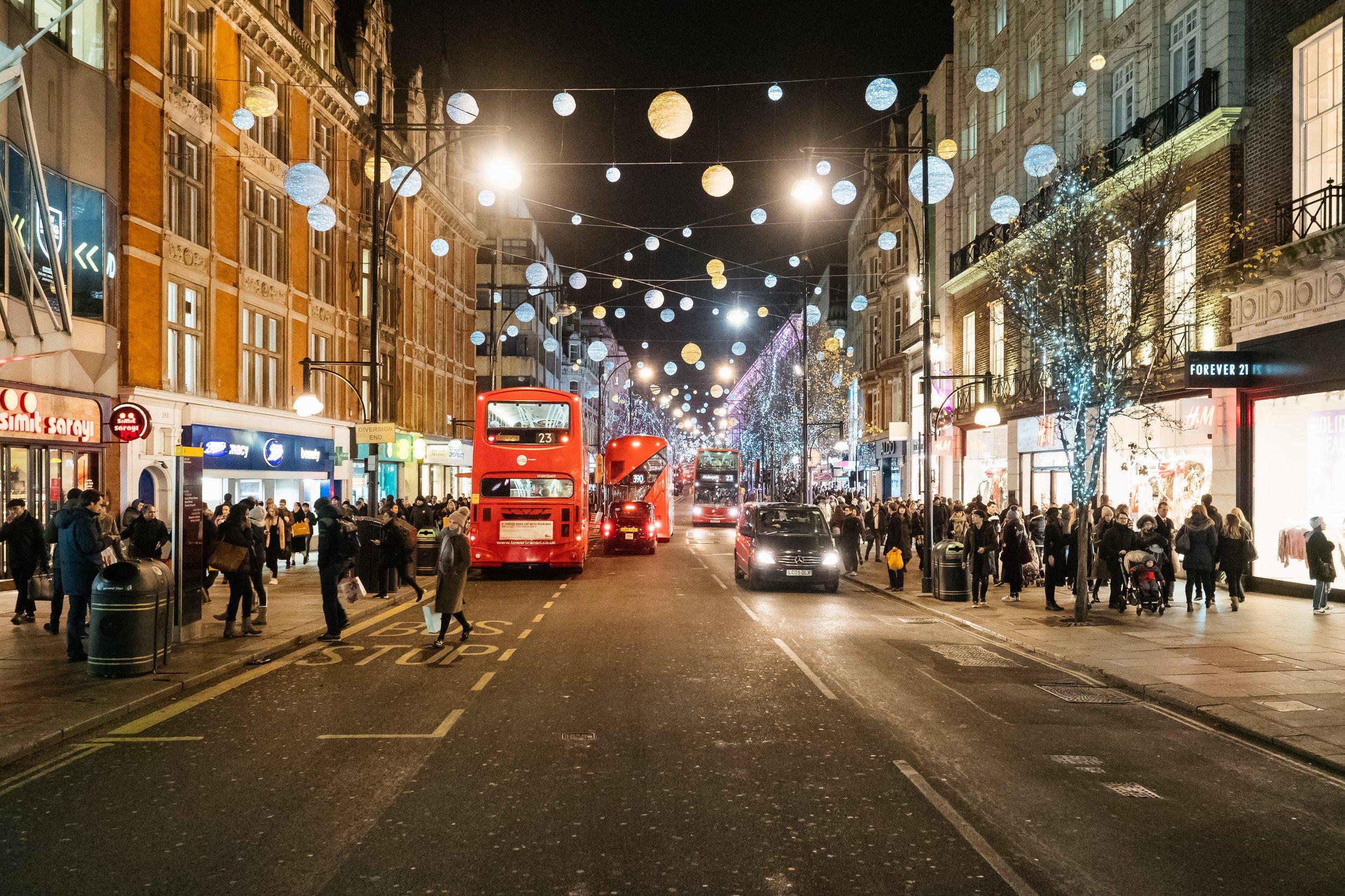 Taken from Bond Street in London, England on December 12.