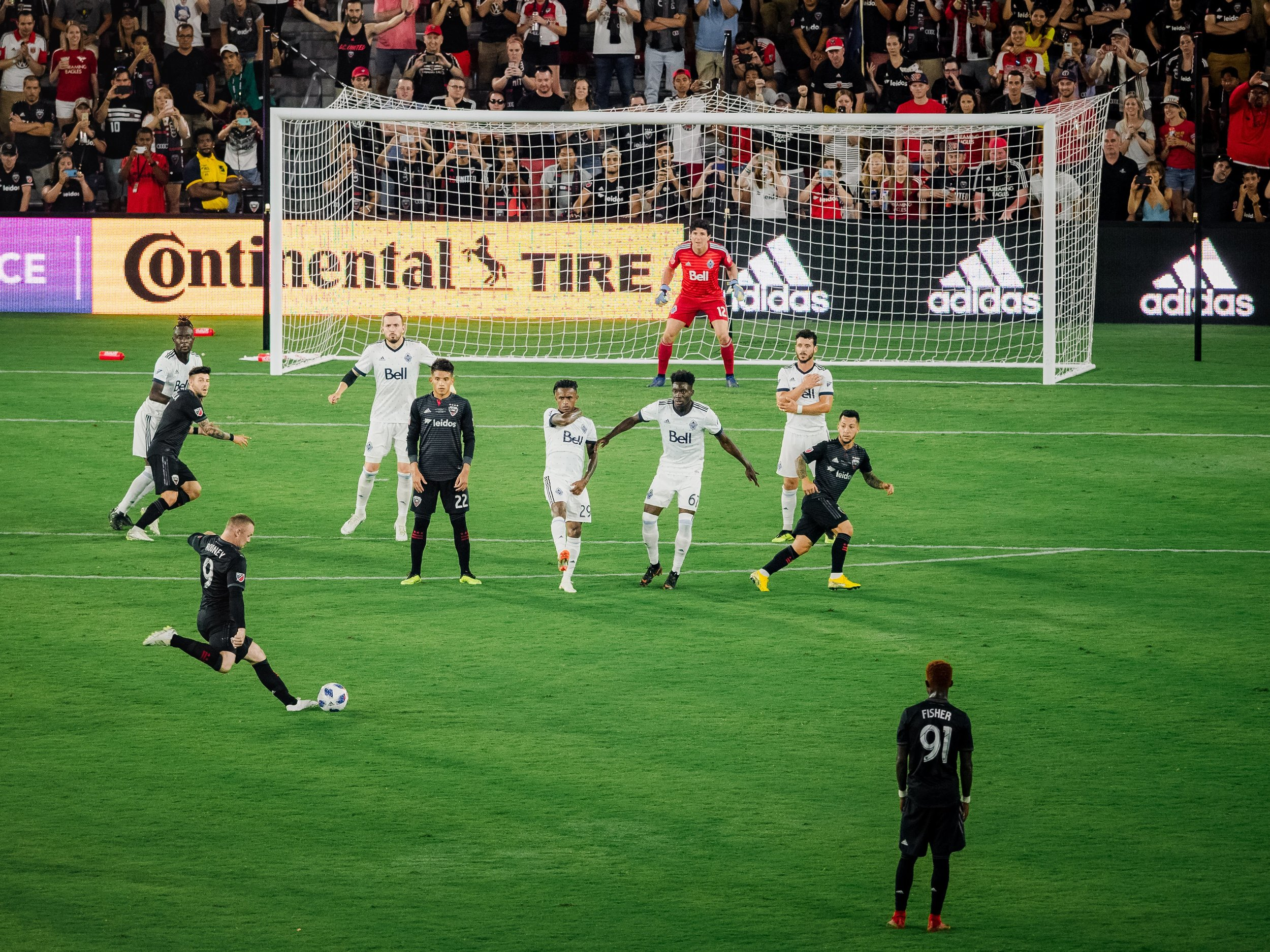 Mere minutes into his debut, Rooney was presented with a juicy free kick opportunity (he drilled it into the wall).