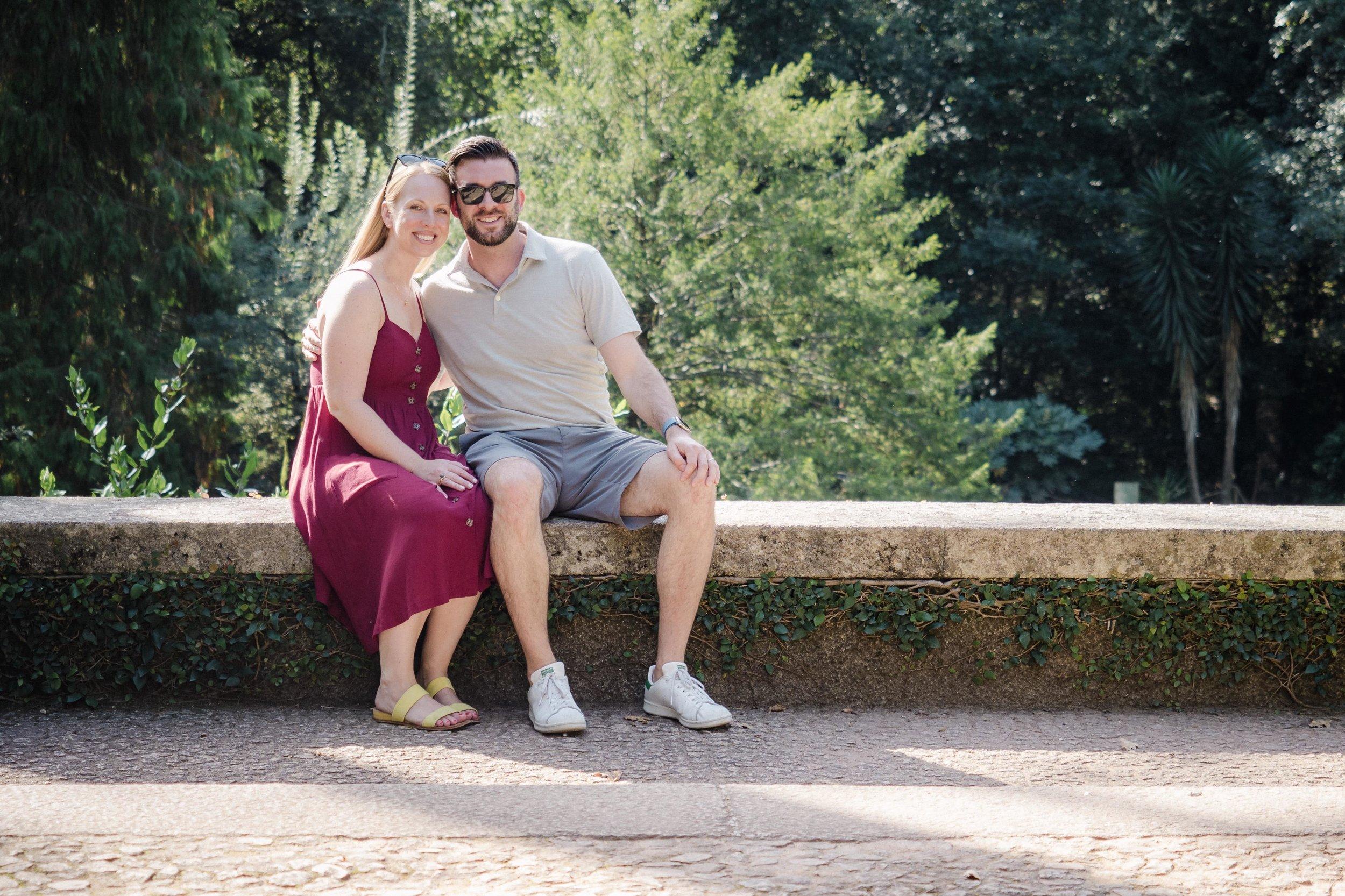 Lauren and I posing in the gardens of Serralves.