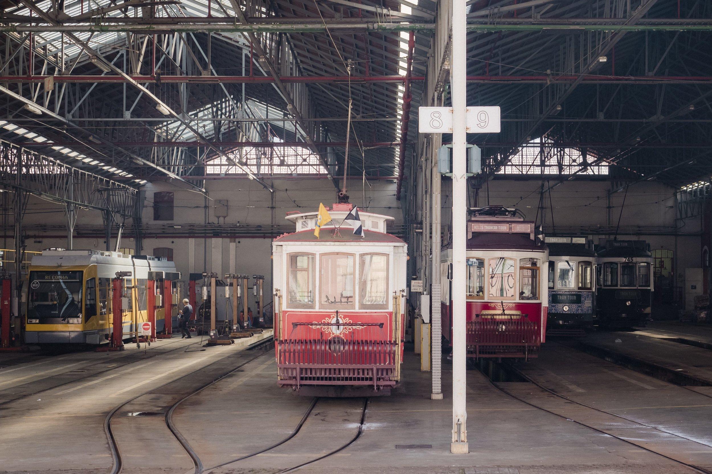 Lisbon's tram depot