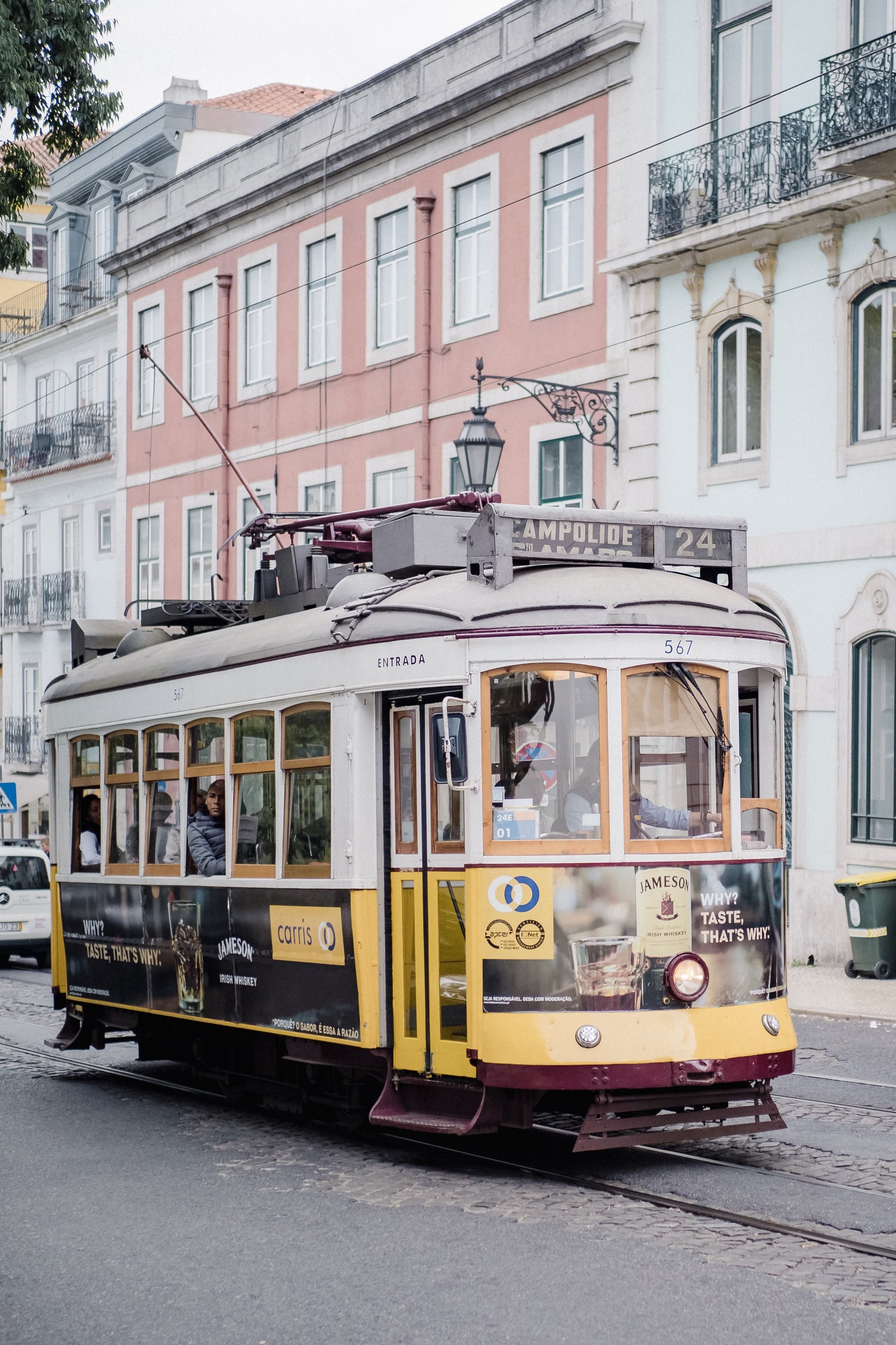 Lisbon's number 24 tram (not quite as famous as the 28, but you take what you can get sometimes).