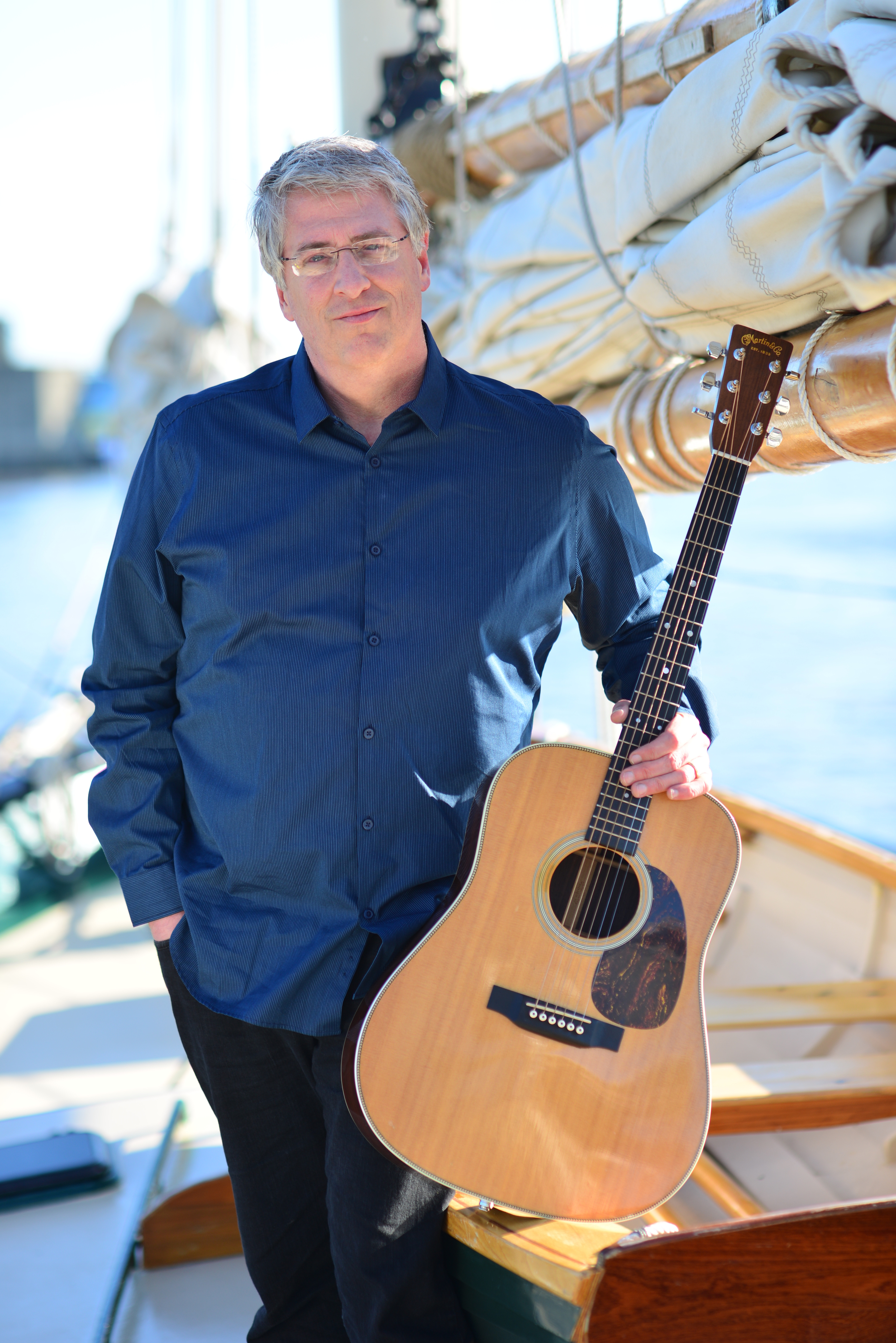 Dan Hall on board the Appledore schooner. Photo credit Michael Robb