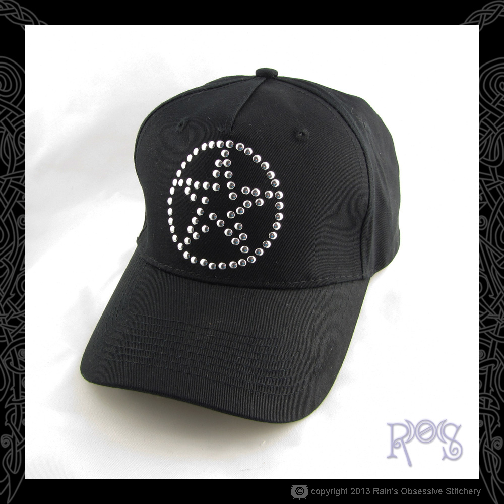 Cap-Black-Nailhead-Pentacle-Silver.JPG