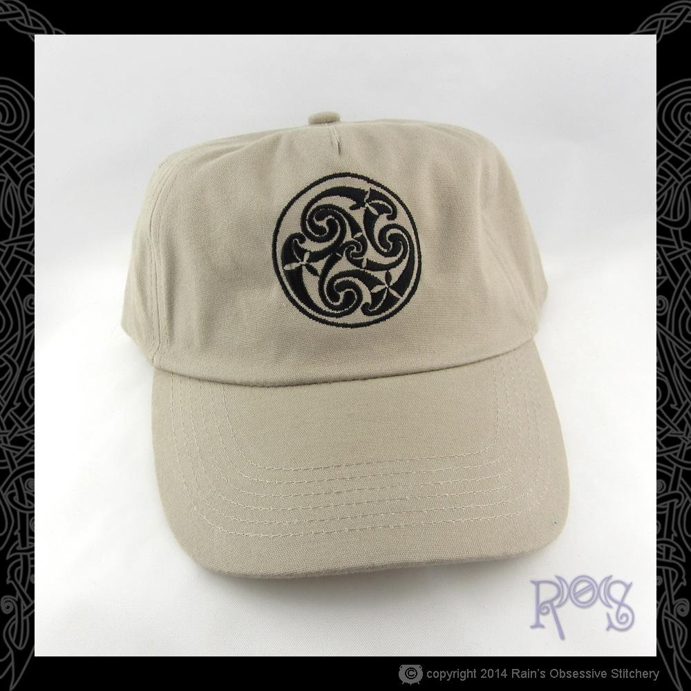 Cap-X1-Khaki-Celtic-Spiral-Black.JPG