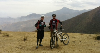 Jon and Troy way up in the Andes