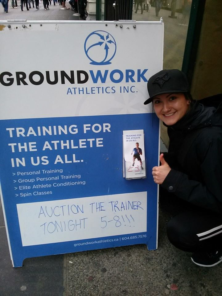 Dayle Prior to our Auction the Trainer Night