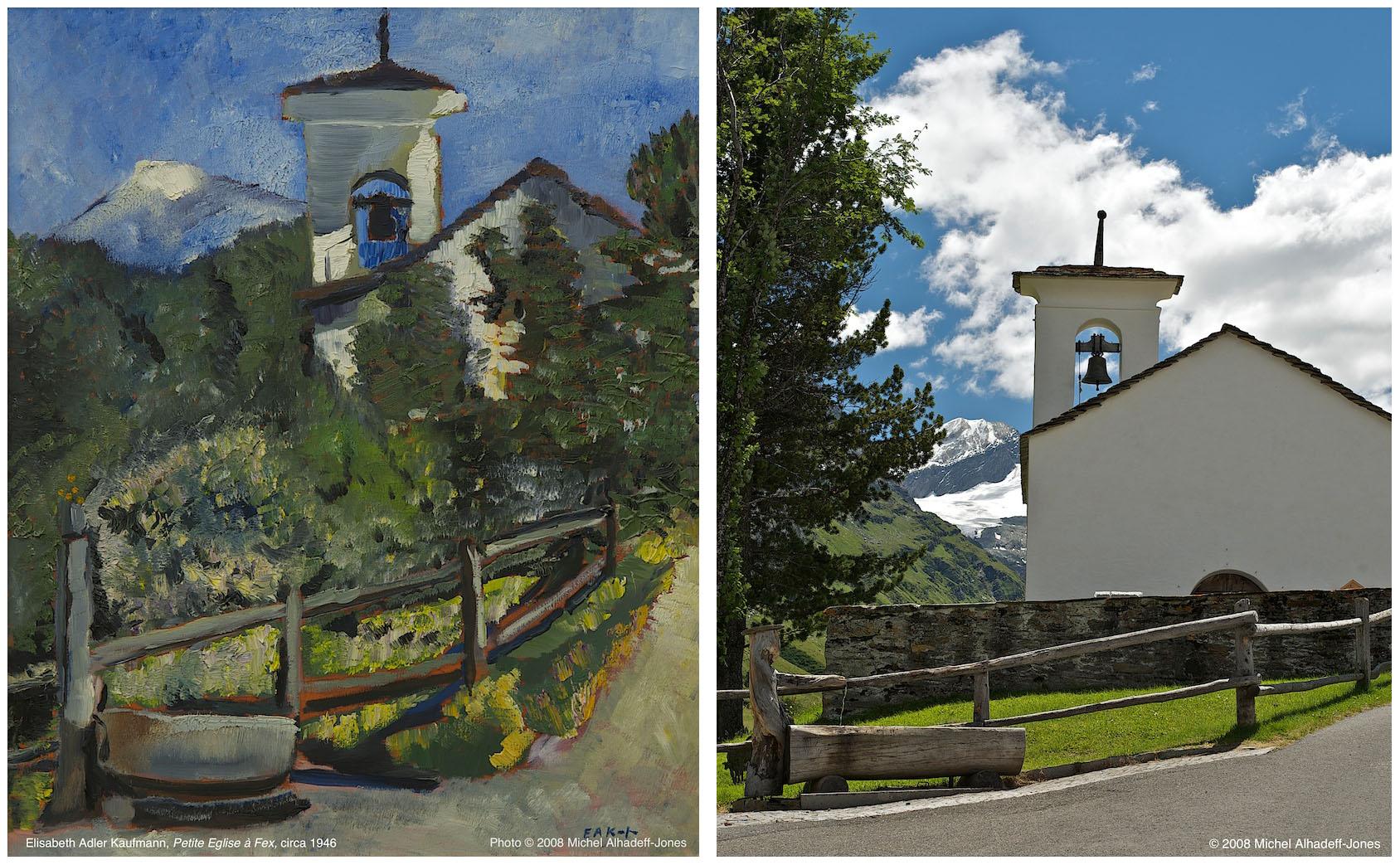 Eglise, Fex, circa 1946 / 2008