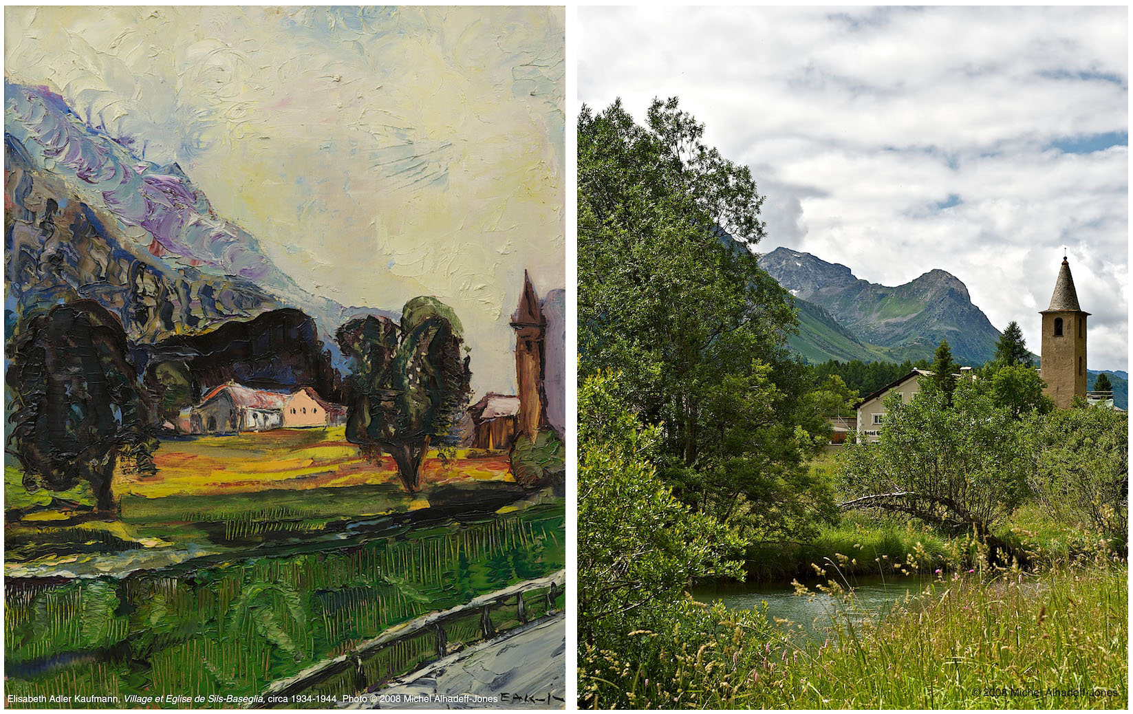 Village et église, Sils-Baseglia, circa 1934-44 / 2008