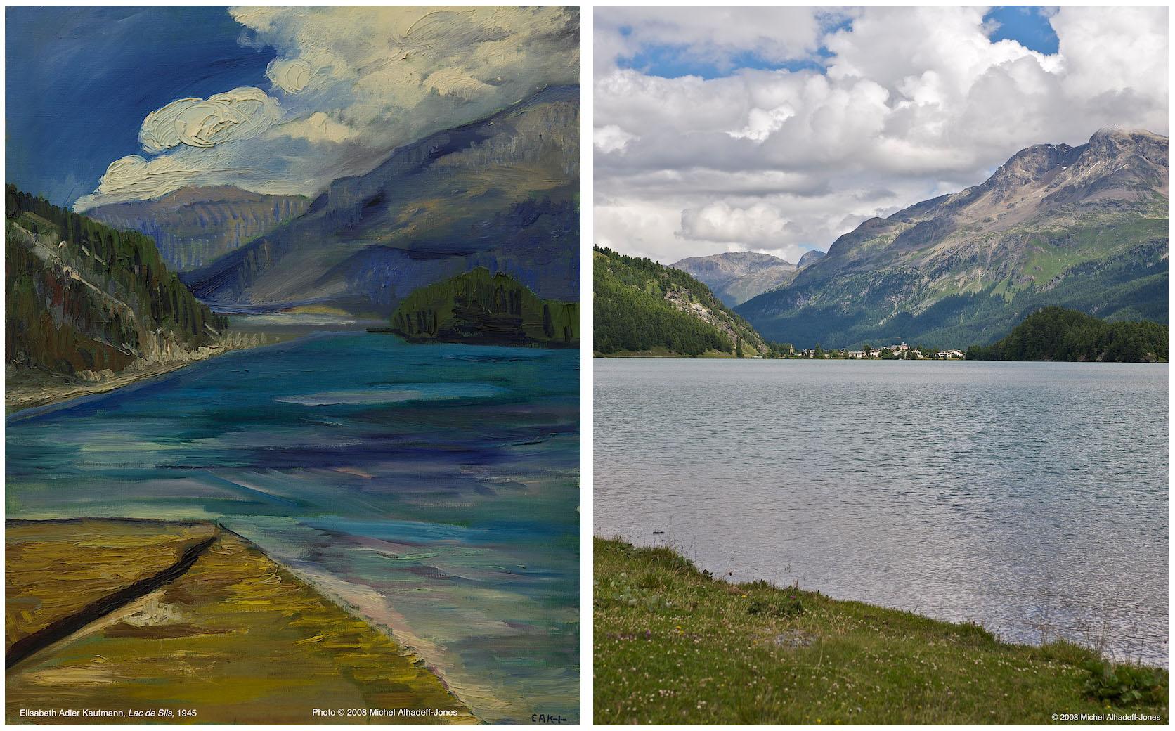 Lac de Sils, Plaun de Leg, 1945 / 2008