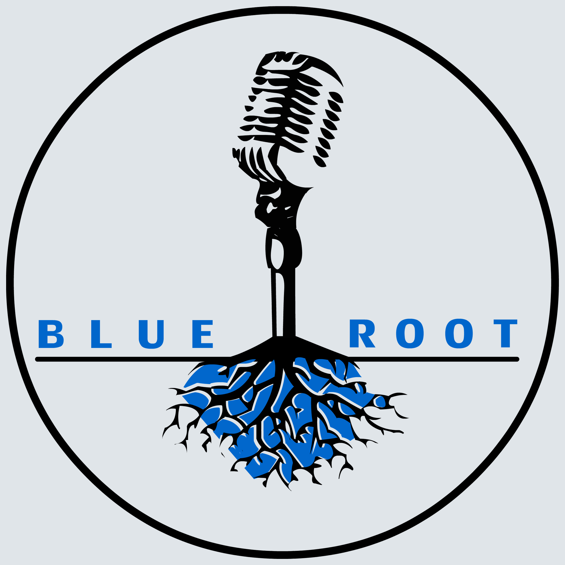 Logo for a DJ, Blue Root Entertainment