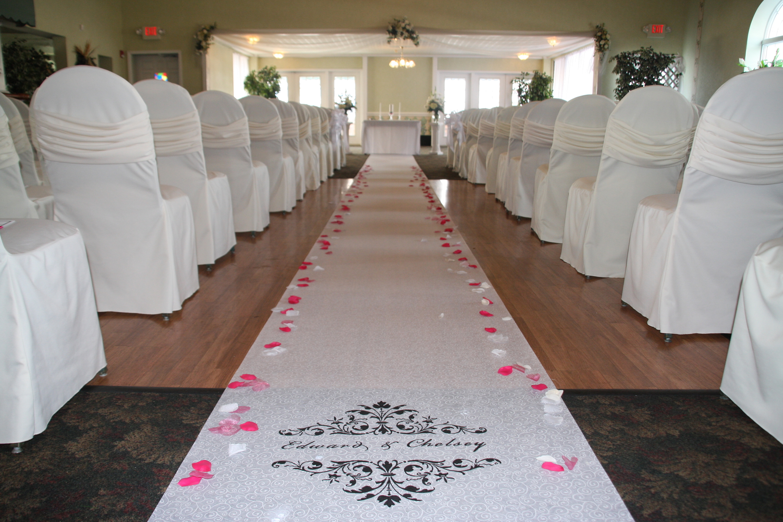 Chairs & Aisle inn Wedding Venue, Buffalo NY
