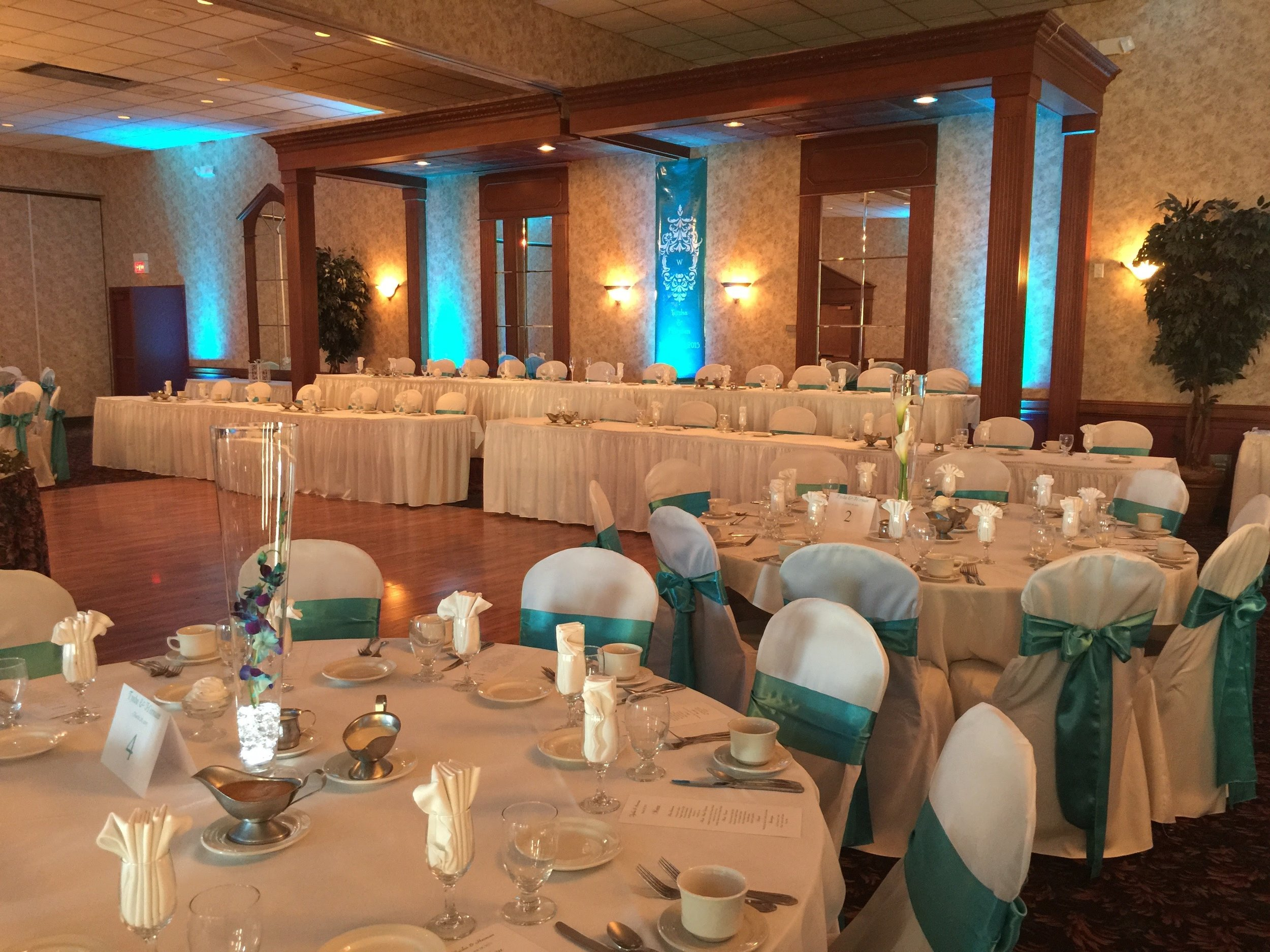 Setup at Our Reception Hall in Amherst, NY