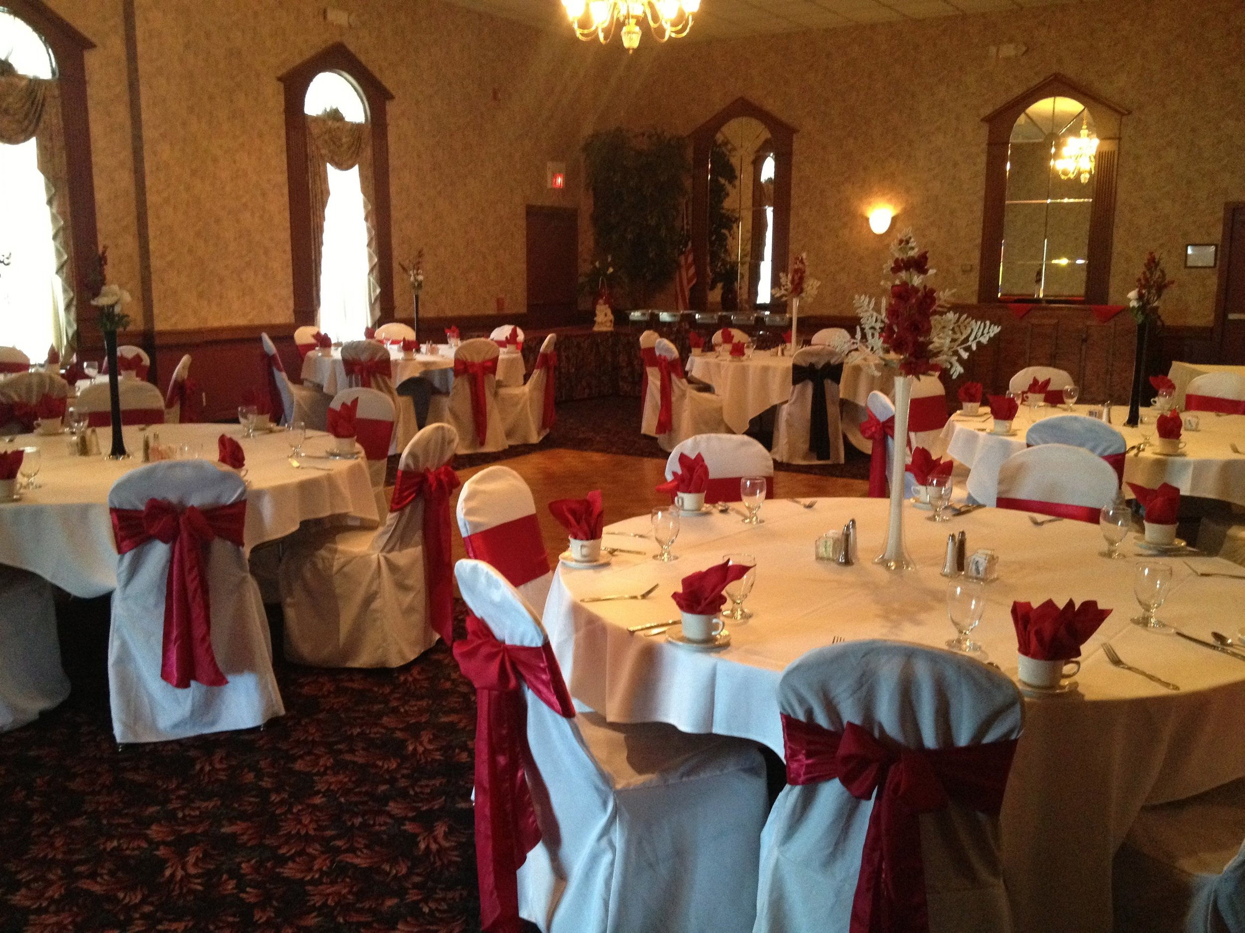 Red and White Wedding at Our Reception Hall