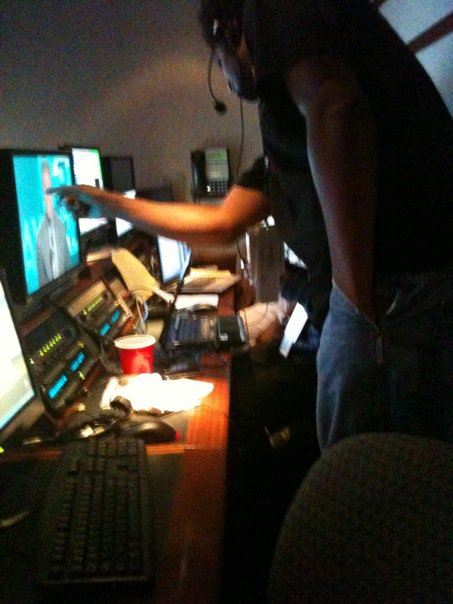 Craziness of the control room.
