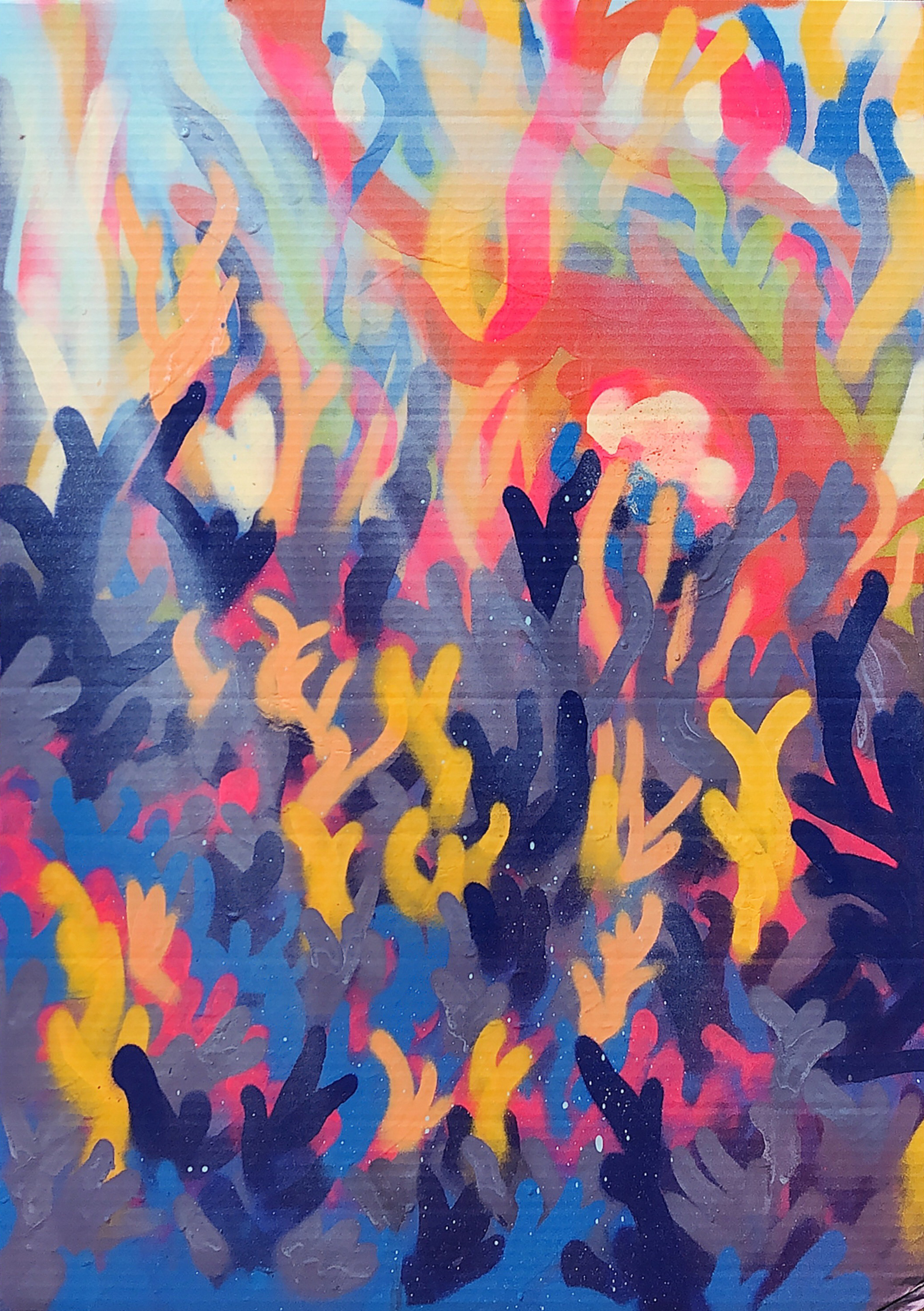 coral one - spray paint.    -     land scapes