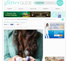 GLITTER GUIDE DIY Crystal Wine Stoppers