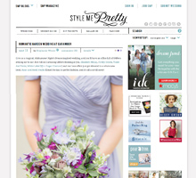 STYLE ME PRETTY Romantic Garden Wedding at Caramoor