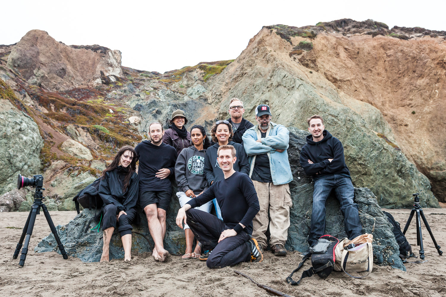 The photo crew at Rodeo Beach