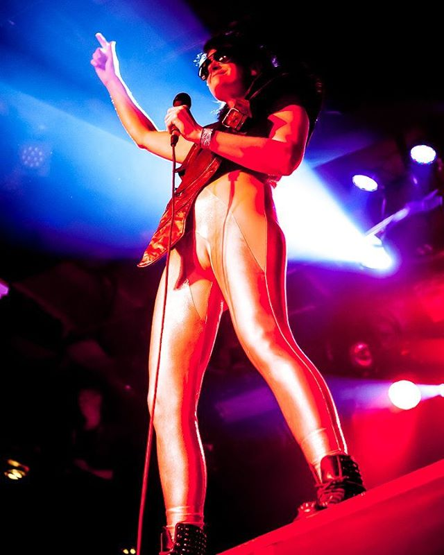 Peaches performing at #mezzaninesf a few years back. She was a one-woman show, dj-ing, singing, changing costumes and all, amazing.  #concertphotography  #photography  #lowlightphotography  #peaches  #electronicrock #5dmk2