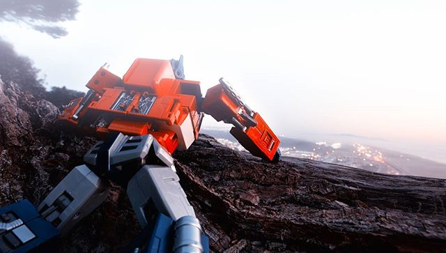 Reconoissance mission: Ocean Beach, CA. No sing of Decepticon activity.  #transformers #optimusprime  #toyphotography  #wideanglelens  #nikplugins