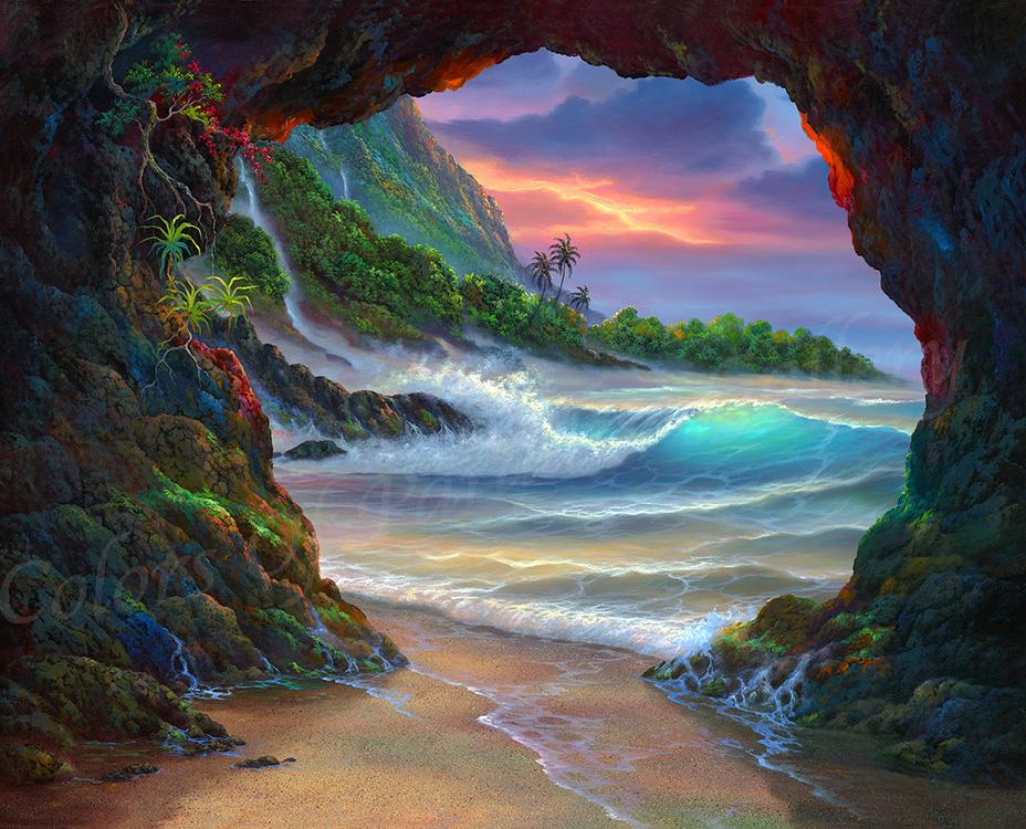 """Kauai Sea Cave"" 24x30"