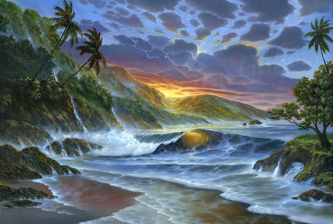 """""""Golden Sunset"""" 24x36"""