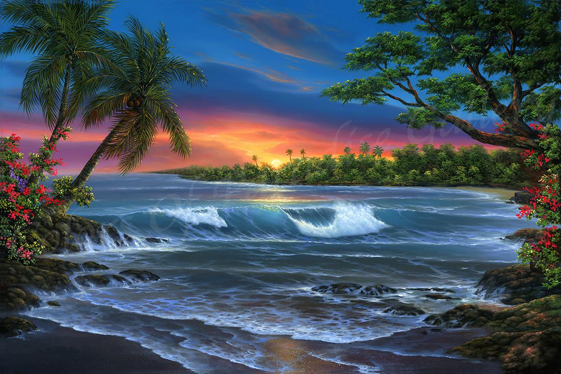 """Hawaiian Sunset"" 24x36"