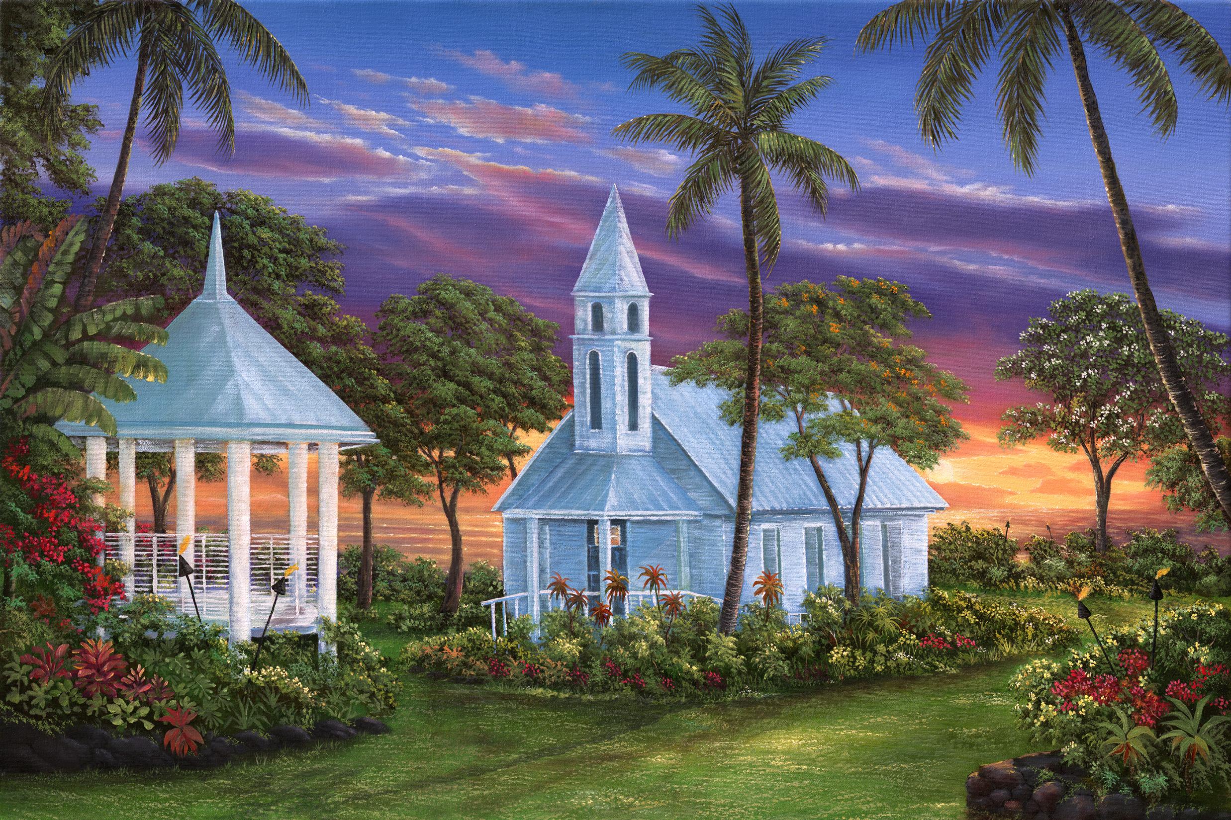 """Keauhou Chapel"" 24x36"