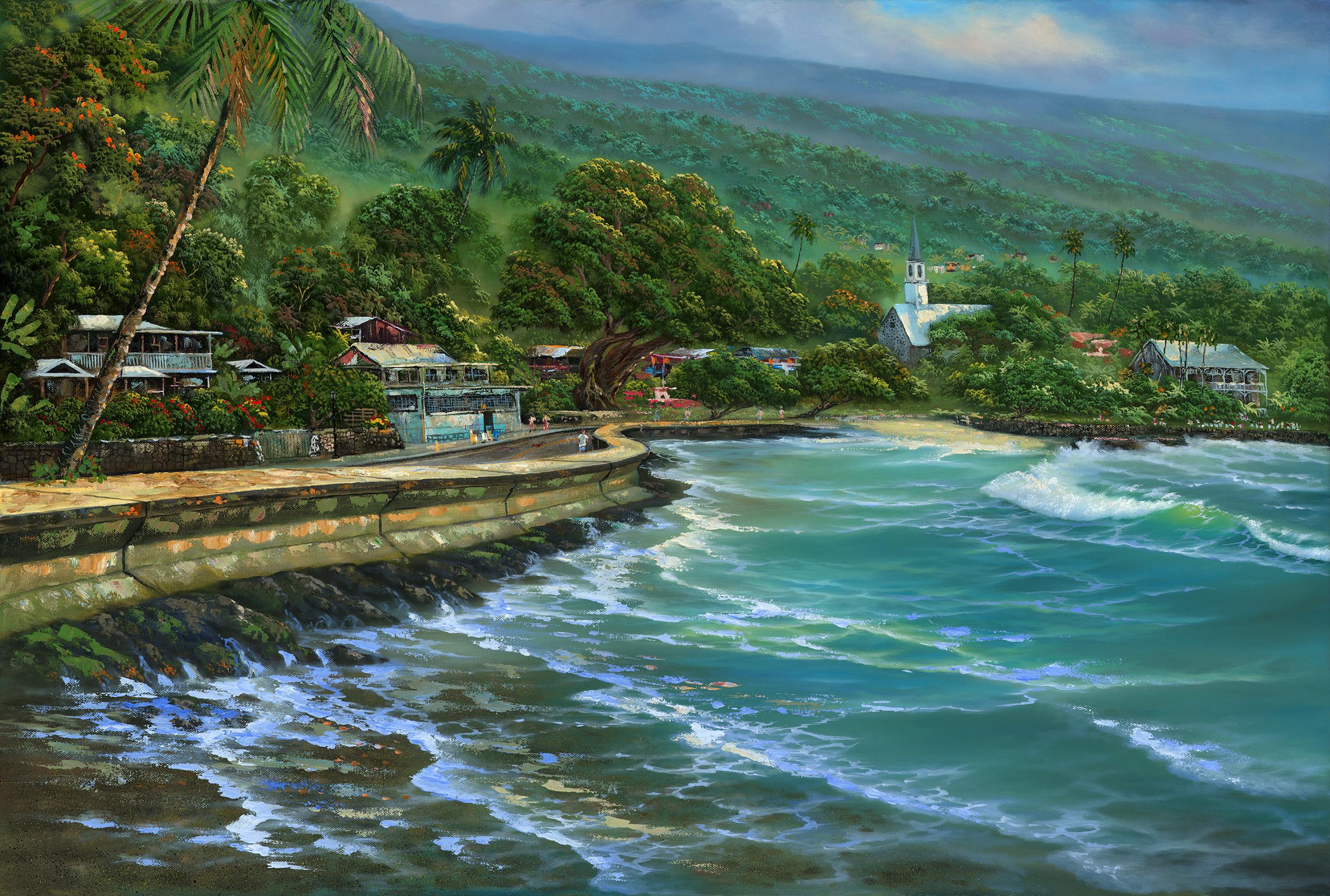 """""""Kona By The Sea"""" 24x36"""