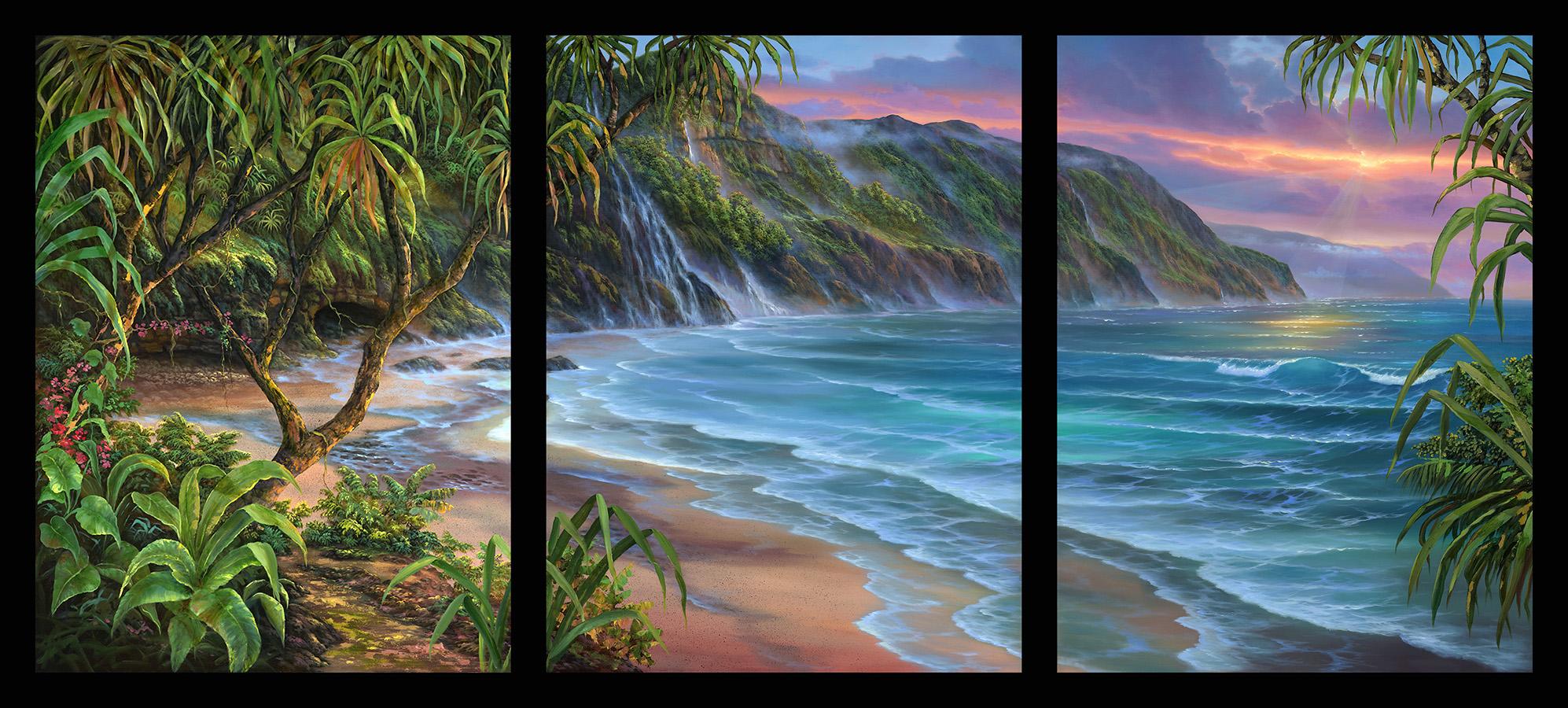 """""""Hanakapiai Beach"""" 40x90"""