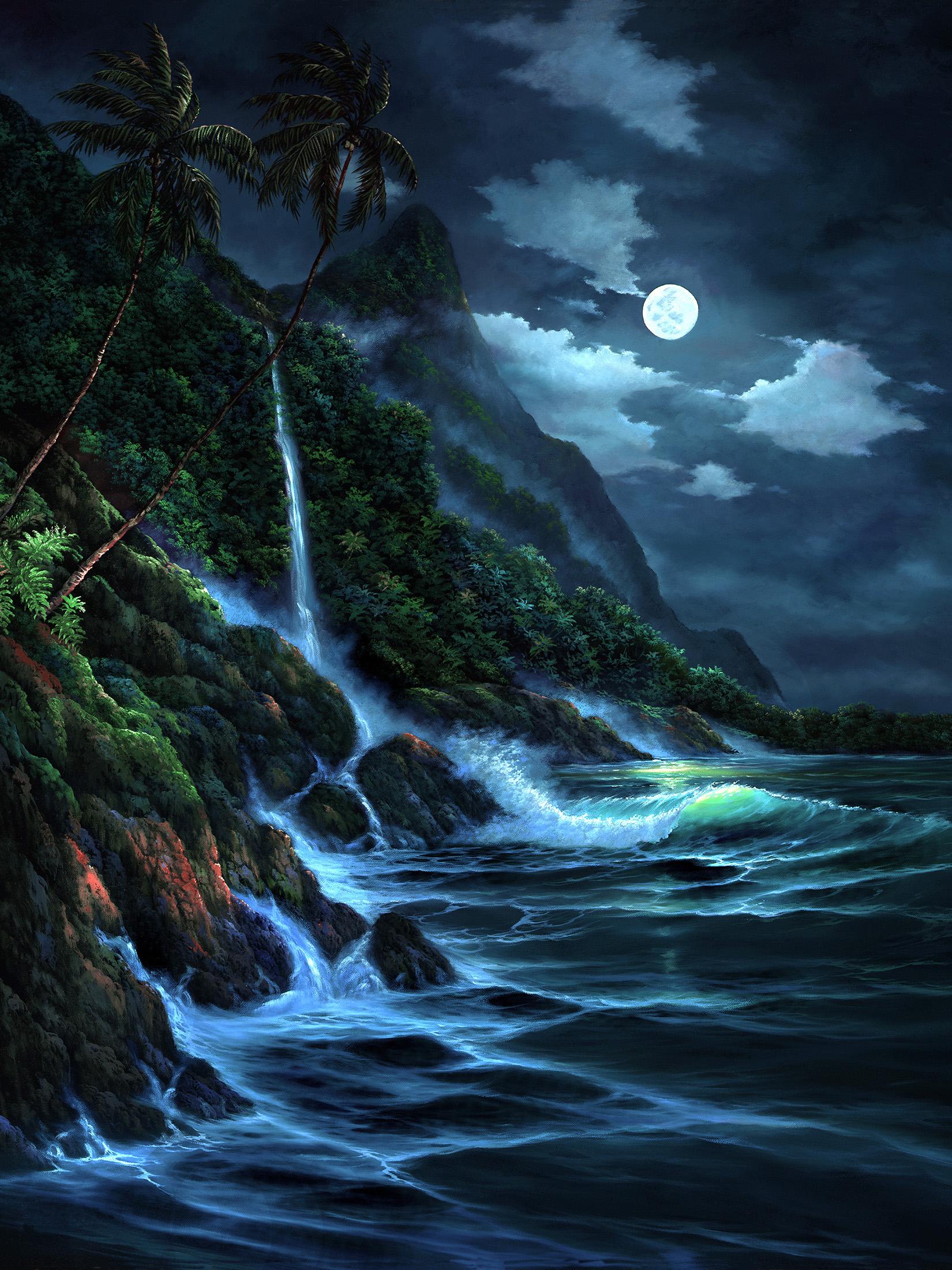 """""""Kauai Moon"""" 18x24"""