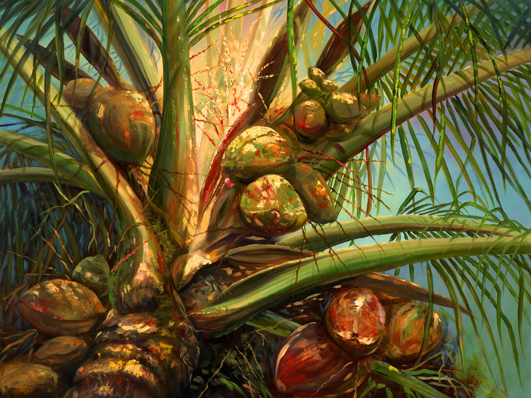 """""""Coconut Palm"""" 30x40"""